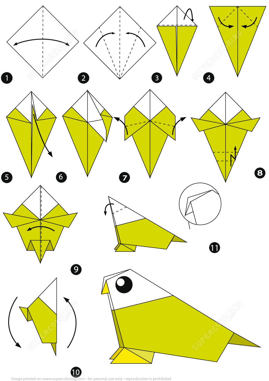 Photo of How to Make an Origami Bird Step by Step Instructions | Free Printable Papercraft Templates, …