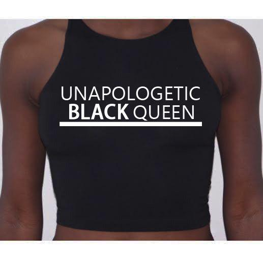 d016d43e40135c Melanin Apparel — Unapologetic Black Queen Crop Tops
