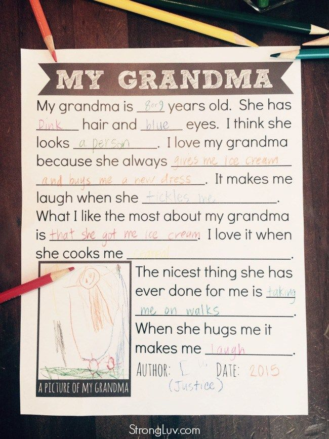 graphic regarding All About My Grandma Printable known as All Pertaining to My Grandma Absolutely free Printable! The utmost soften-her-middle