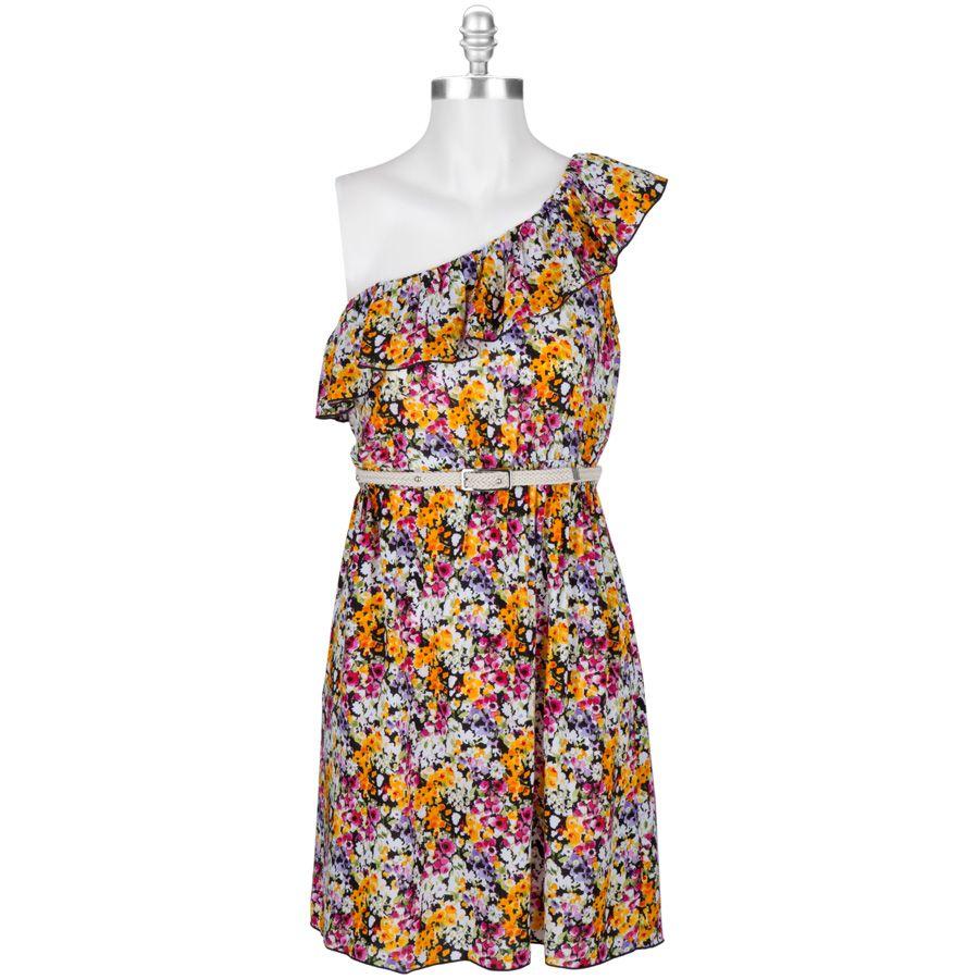 Bcx Juniors One Shoulder Floral Dress Vonmaur Dresses Clothes Outfits [ 900 x 900 Pixel ]