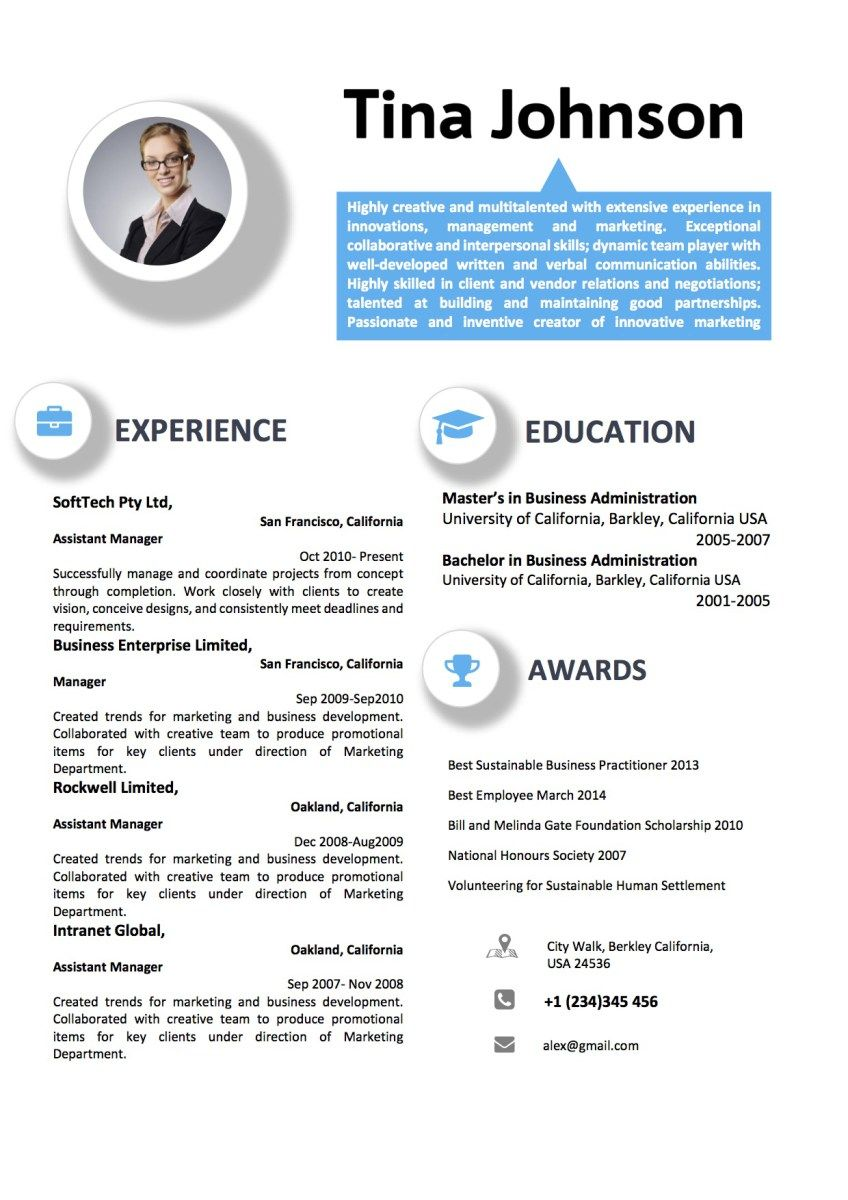 Professional Blue Icon Resume Format Vista Resume Resume Format Resume Interpersonal Skills