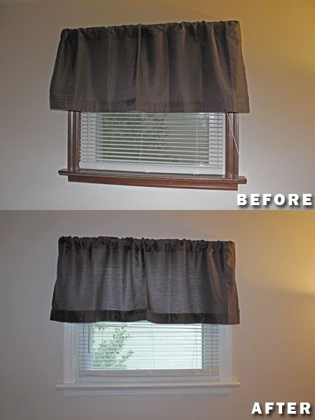 Paint Over Stained Wood Trim Before After Pictures
