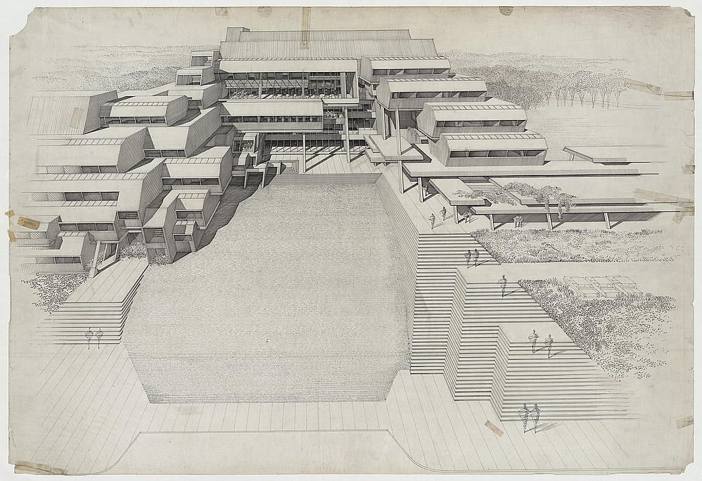 Burroughs Wellcome Company Corporate Headquarters and Office and Dining Facility Addition, Research Triangle Park --- PAUL RUDOLPH (NC) 1969-1972