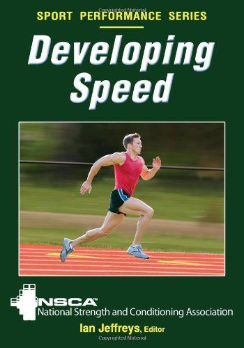 Developing Speed (Sport Performance Series) by NSCA -National Strength & Conditioning Association http://www.amazon.com/dp/0736083286/ref=cm_sw_r_pi_dp_AP1Vub196MB56