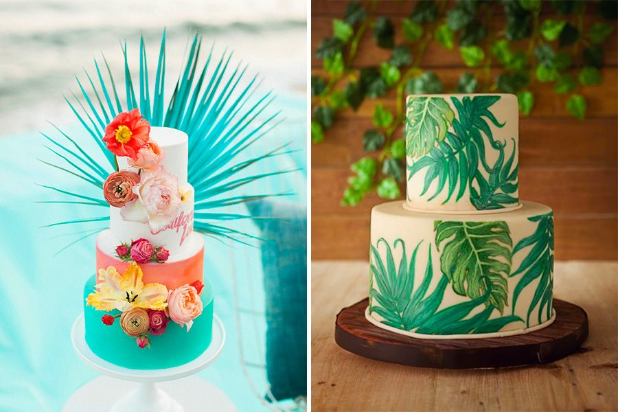 Wedding Cakes 2017 Tropical Lyon Mariage Com Feed