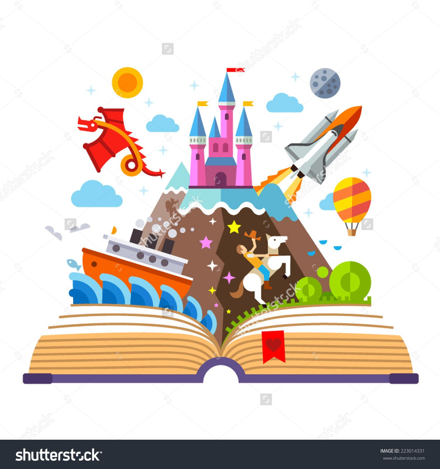 water color open book with a castle - Google Search | Read ...