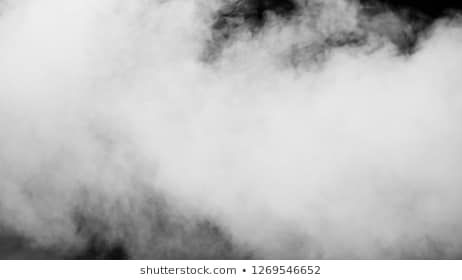 White clouds of vapor smoke are isolated on a black background Gas explodes swirl and dances in space A magic fog dust texture effect that can be used by overlay and chan...