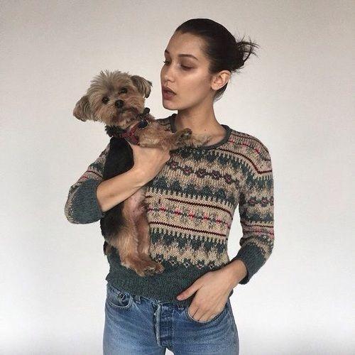 Keptalalat A Kovetkezore Bella Hadid Dog With Dog