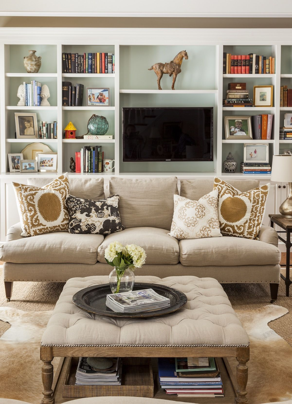 New England Home Painel Tv Salas E Pain Is -> Sala De Tv E Biblioteca