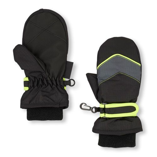 Baby Boys Toddler Boys 3-In-1 Mittens - Black - The Children's Place