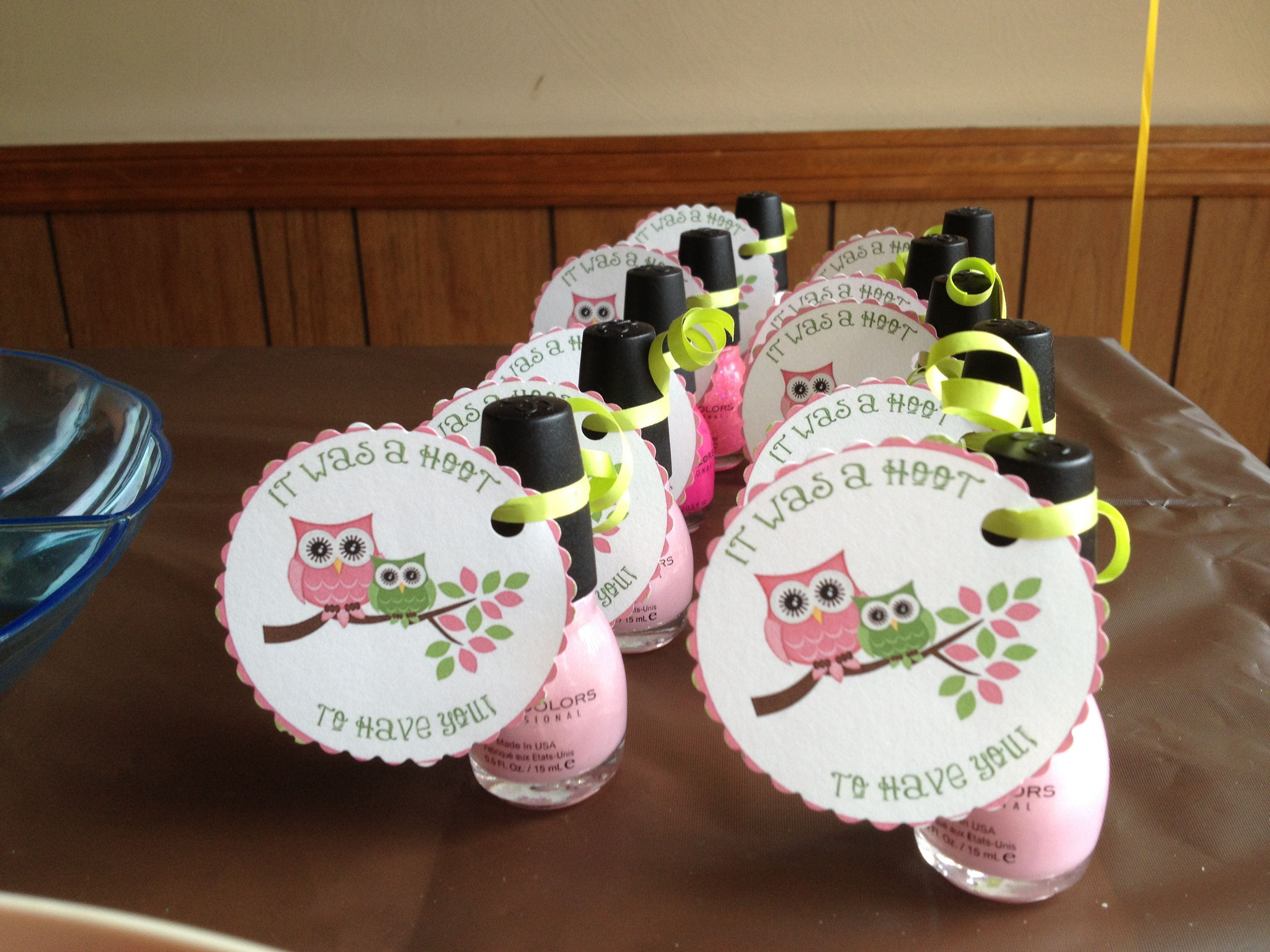 Owl Baby Shower Party Favors