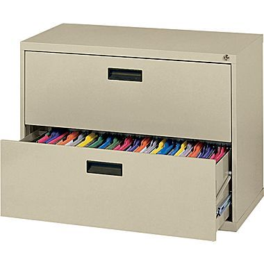 Mbi 400s Series Lateral File Cabinet 30in Wide 2 Drawer Putty