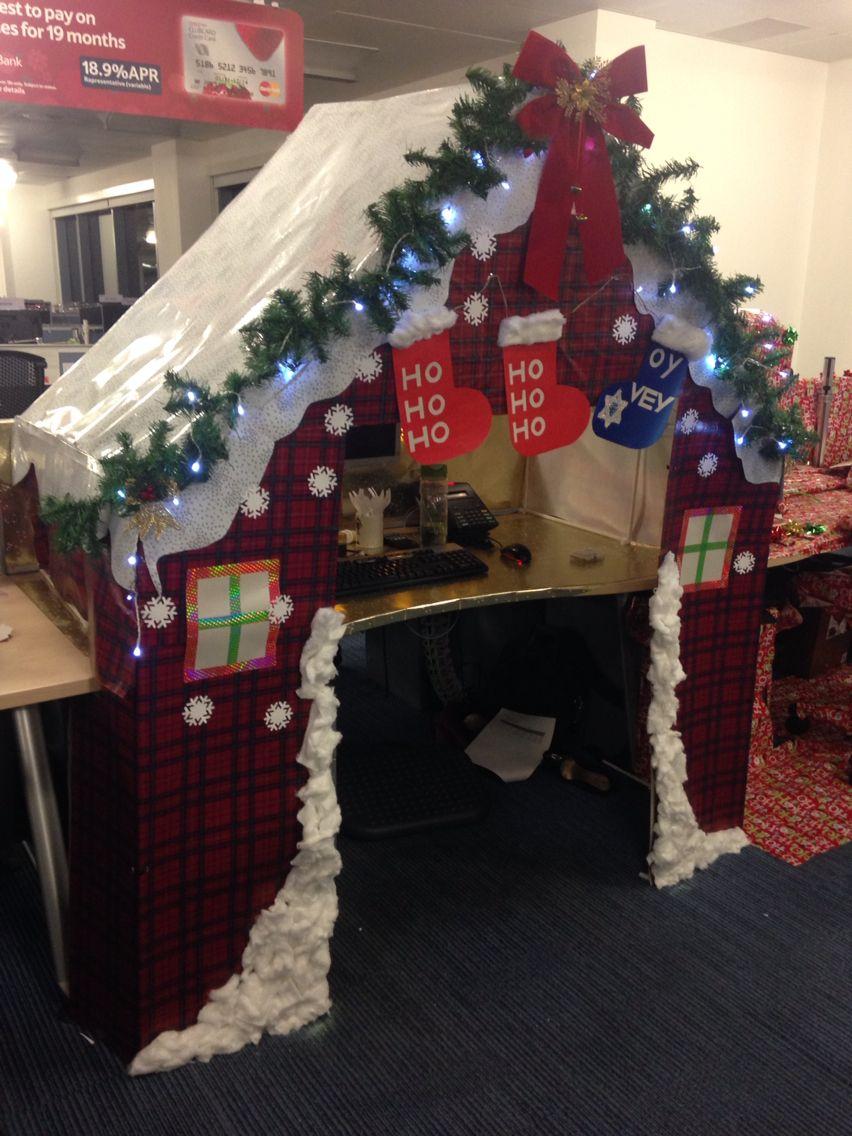Christmas desk decorations. Santa's grotto. Christmakkah. | Christmas desk | Pinterest
