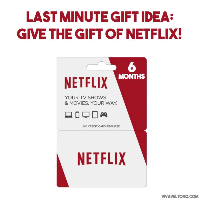 Last Minute Gift Idea Give A Netflix Gift Card Pinterest