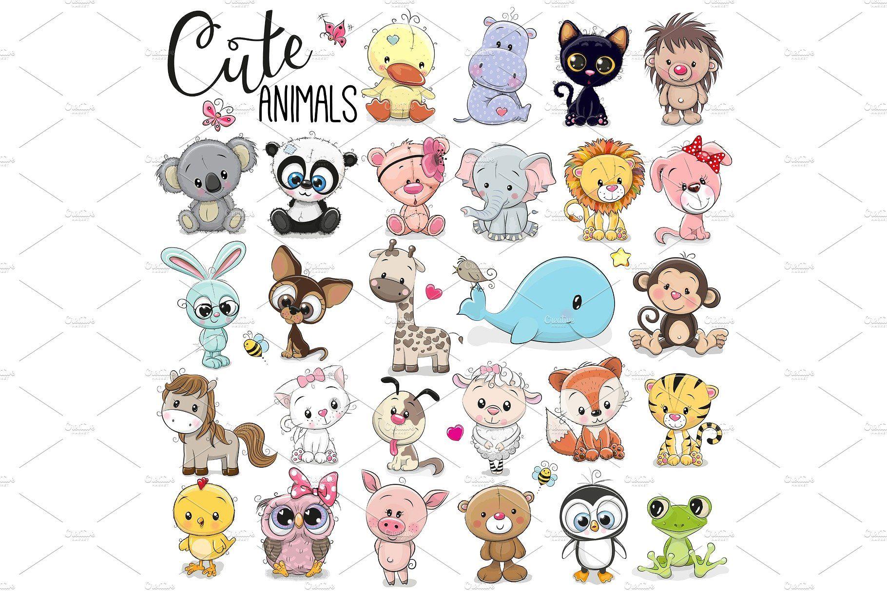 13++ Easy cute cartoon animals images