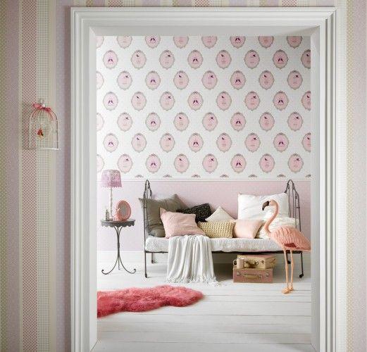 tapete kinder punkte rosa wei erismann funpark kindertapete 7337 05 kids teens tapeten. Black Bedroom Furniture Sets. Home Design Ideas