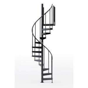 Best Mylen Stairs Condor Black 42 In 3 Ft 6 In Wide 9 400 x 300