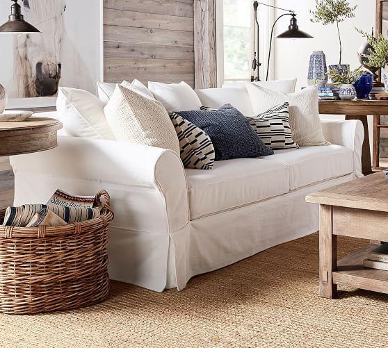 Pb Comfort Roll Arm Slipcovered Sofa Potterybarn