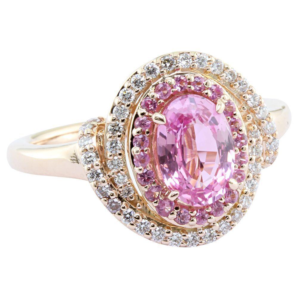 K goldr padparadscha sapphire ring suk rings pinterest