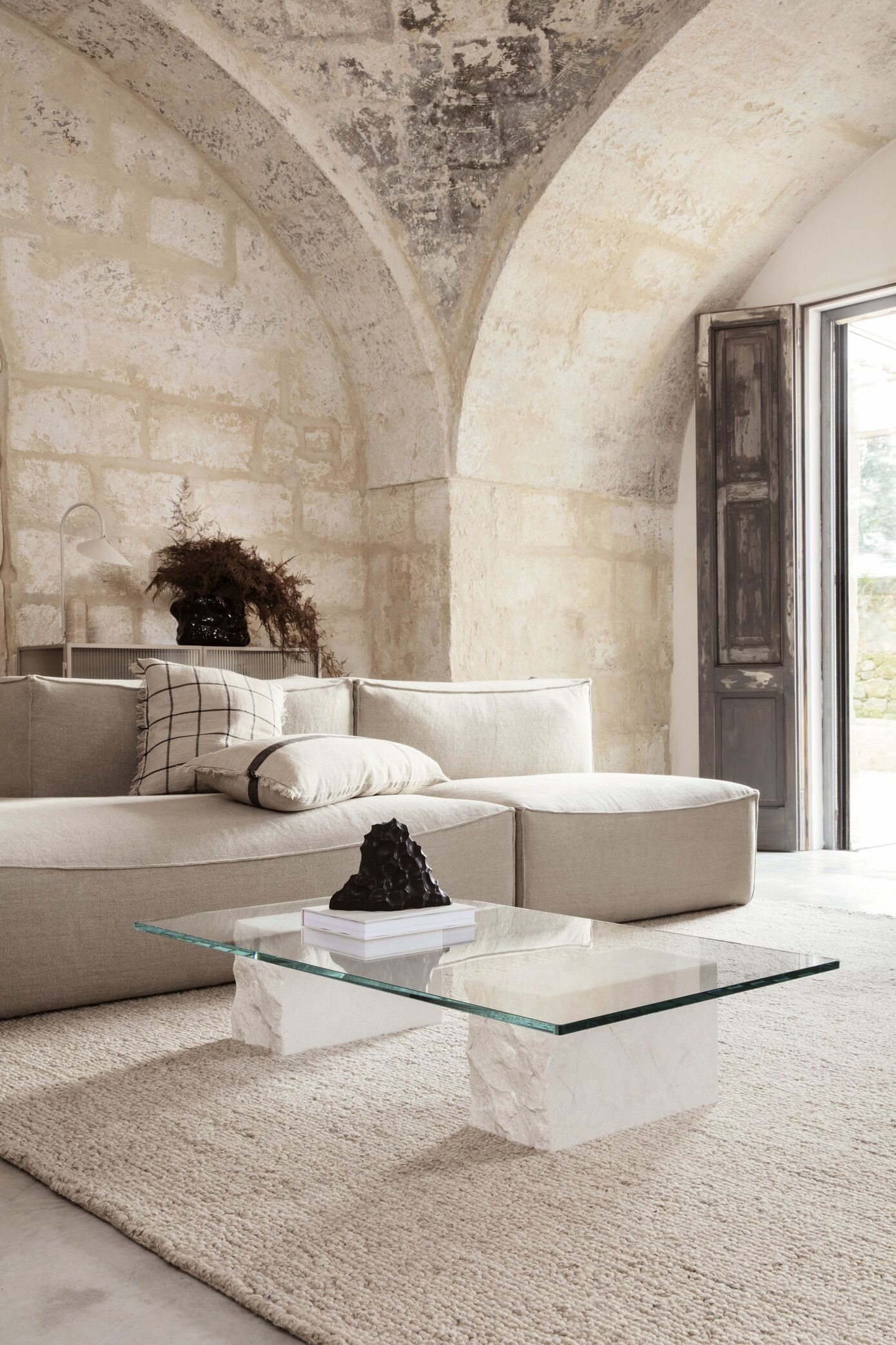 Catena The First Modular Sofa By Ferm Living April And May Stone Coffee Table Coffee Table Ferm Living [ 2085 x 1390 Pixel ]