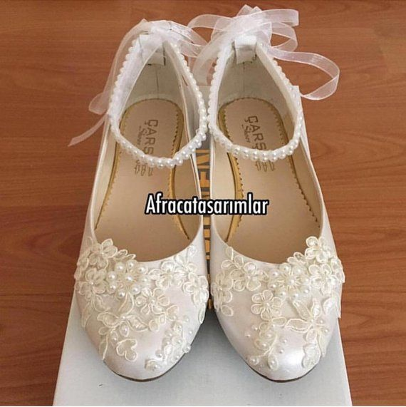 9b9414bb2a675 Lace_up Custom Lace Flower Pearls, Wedding Shoes, Party shoes, Lace ...
