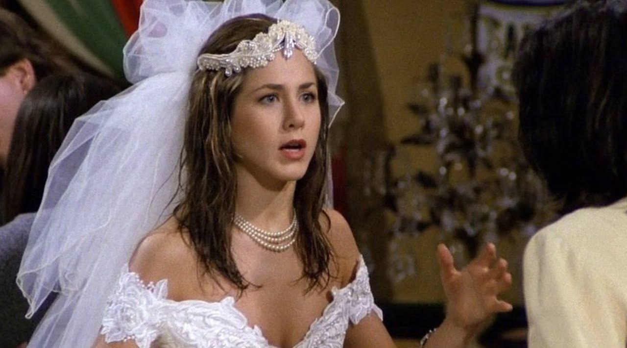 Top 10 Pilot Episodes Of Tv Sitcoms 12 Wedding Dress Green Wedding Dresses Rachel Green Outfits [ 710 x 1280 Pixel ]