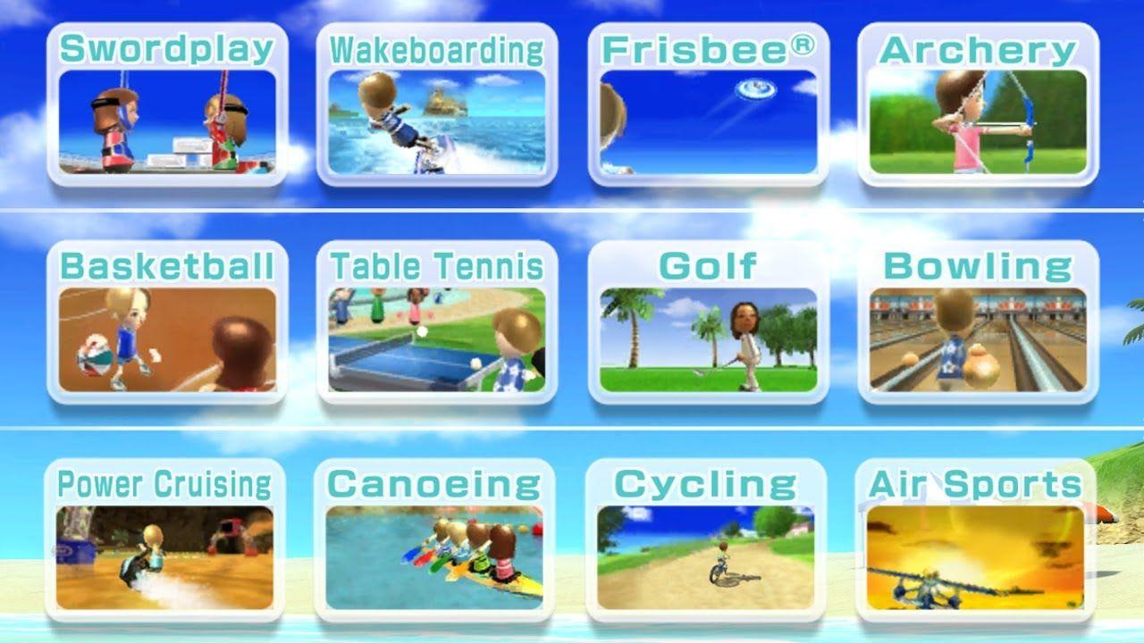 Wii Sports Resort All Sports in 2020 Wii sports resort