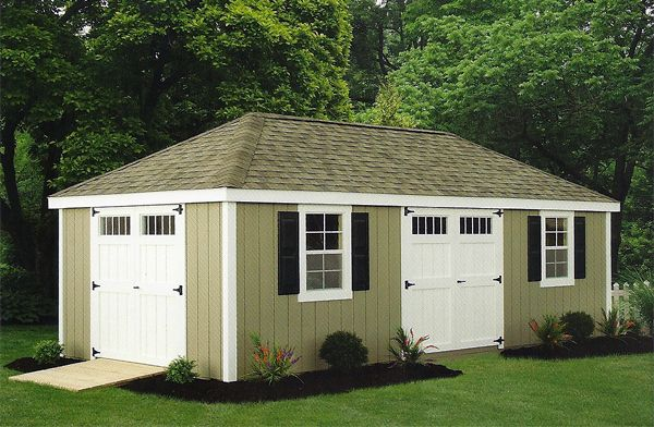 12 X 24 Wood New England Hip Roof Shed Hip Roof Flat Roof Shed Roof Design