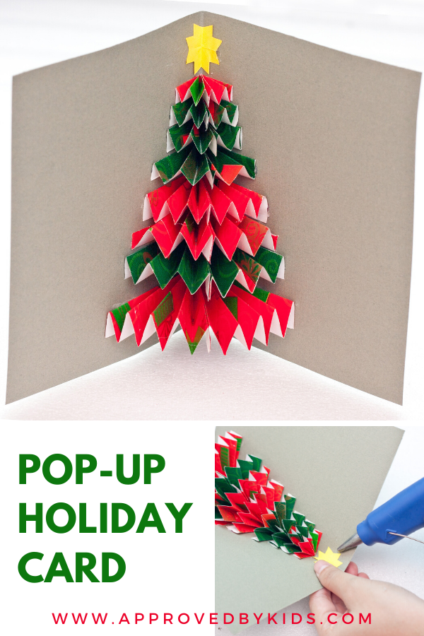 Diy Pop Up Christmas Card Step By Step Tutorial Christmas Tree Cards Paper Crafts For Kids Easy Crafts For Kids