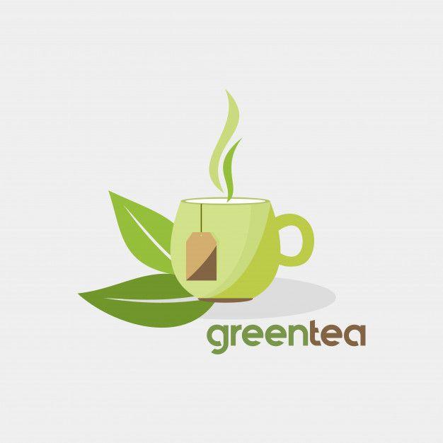 Photo of Green Tea Organic Drink Vector Logo