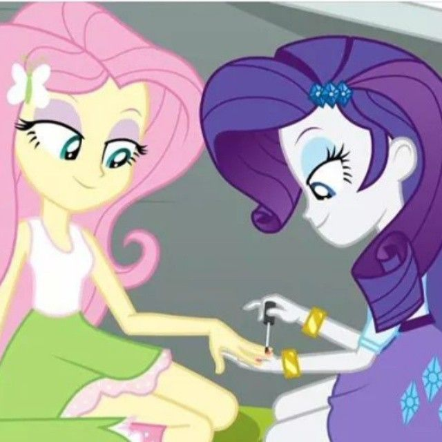 Image result for fluttershy and rarity