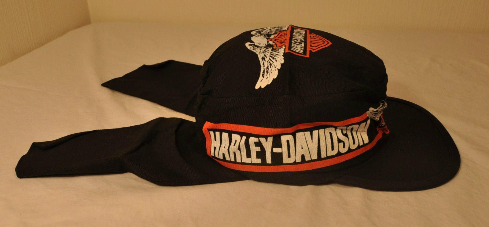 Harley Davidson 80 s flap painters cap  922a5887d6f