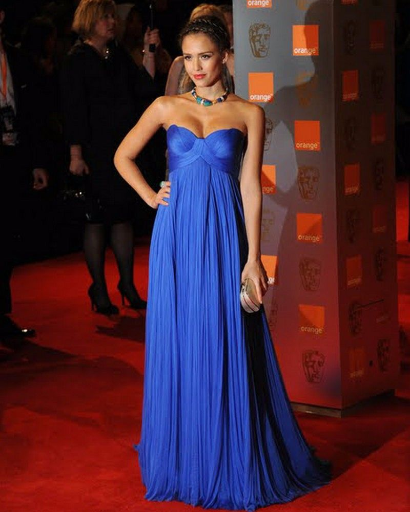 42d2b34077b 2016 Royal Blue Empire Maternity Evening Dresses Sweetheart Ruched Tulle  Celebrity Formal Night Gowns For Pregnant Women Elegant