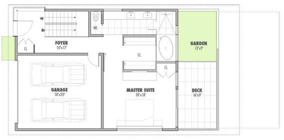 planos de casas terrenos en pendiente