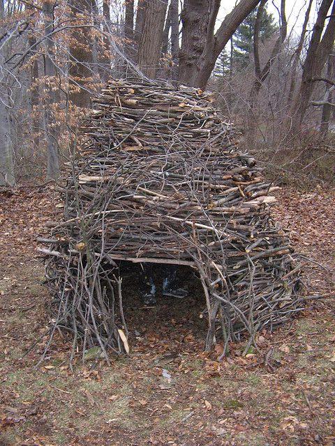 Summer Stick Fort   Outdoor forts, Backyard fort ...