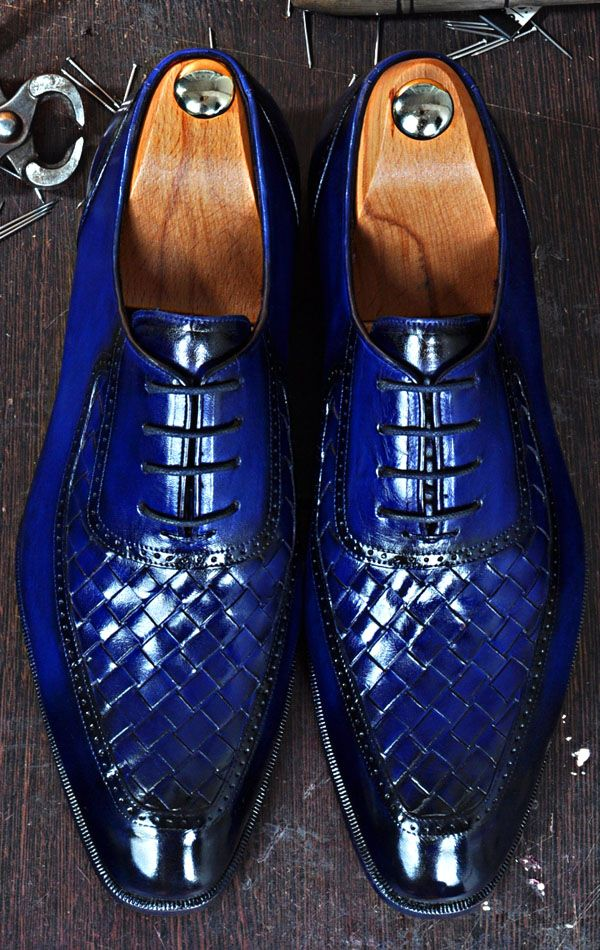 Mens Luxury Shoes Tuccipolo Dumo B Handmade Chequerboard Weave