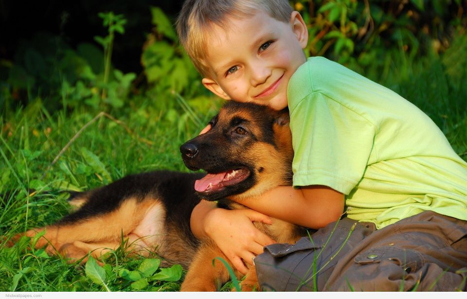 #cute  #kid #dog