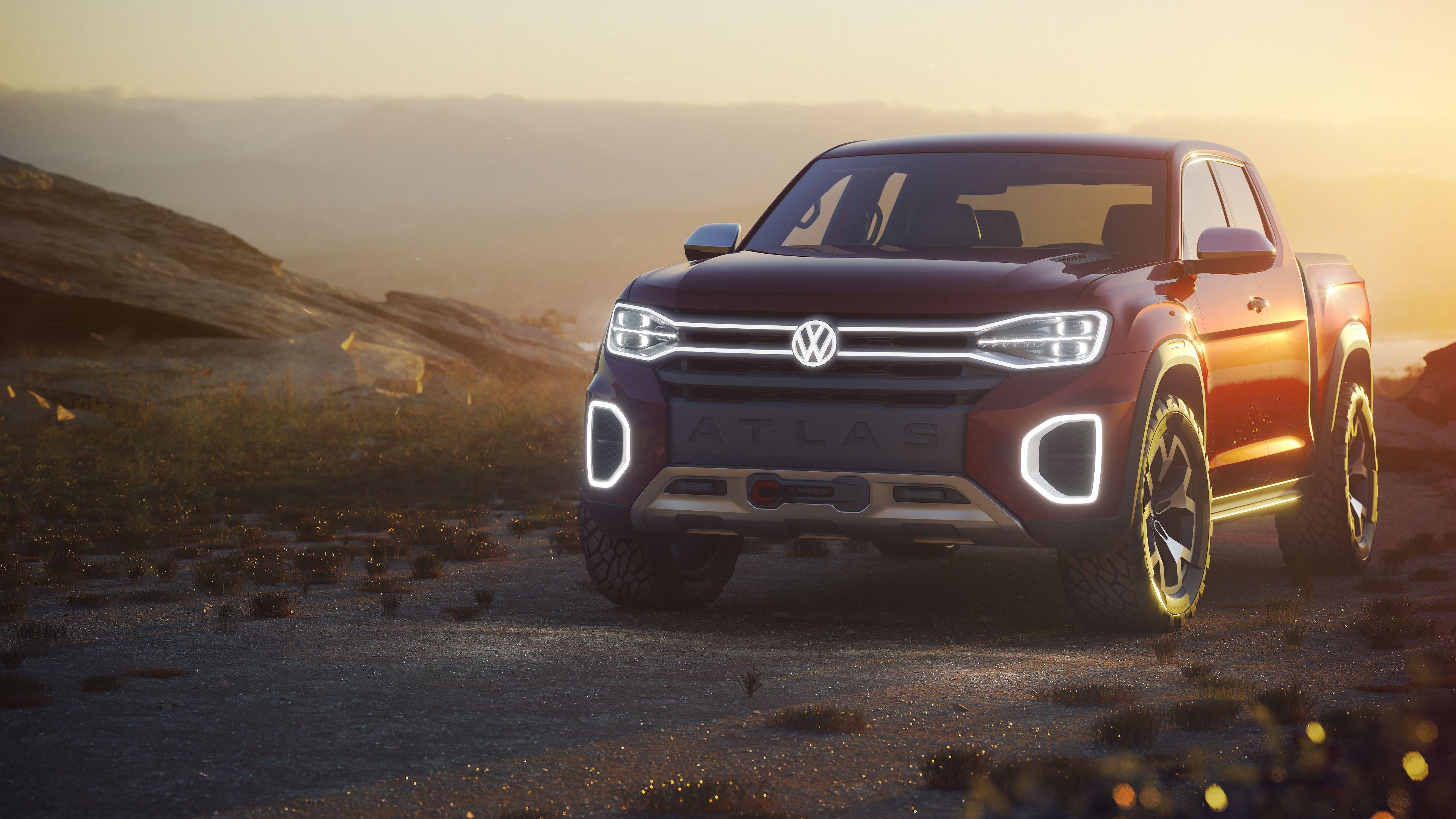 Volkswagen Atlas Tanoak Pickup Truck Concept 2018 Volkswagen Wallpapers Volkswagen Atlas Tanoak Wallpapers Hd Wall New Pickup Trucks Volkswagen Pickup Trucks