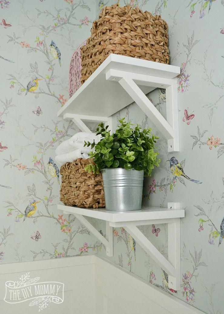 A Diy Powder Room Makeover With Chinoiserie Inspired Bird Floral Wallpaper And Board And Batten Trim Floralwallpapers