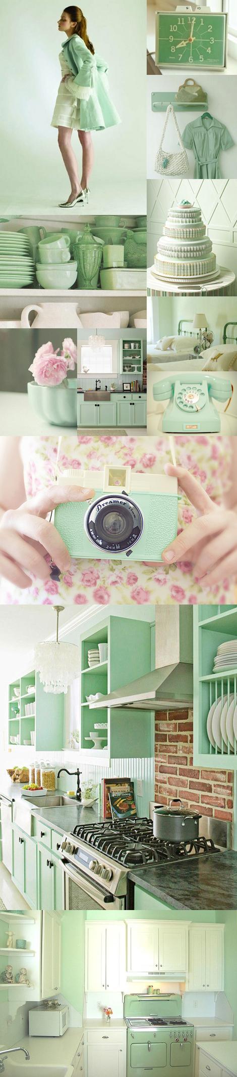 Mint pastel color inspiration