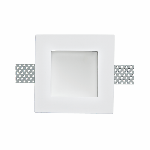 Faretto Da Incasso Venezia Bianco Fisso Quadrato 12 X 12 Cm