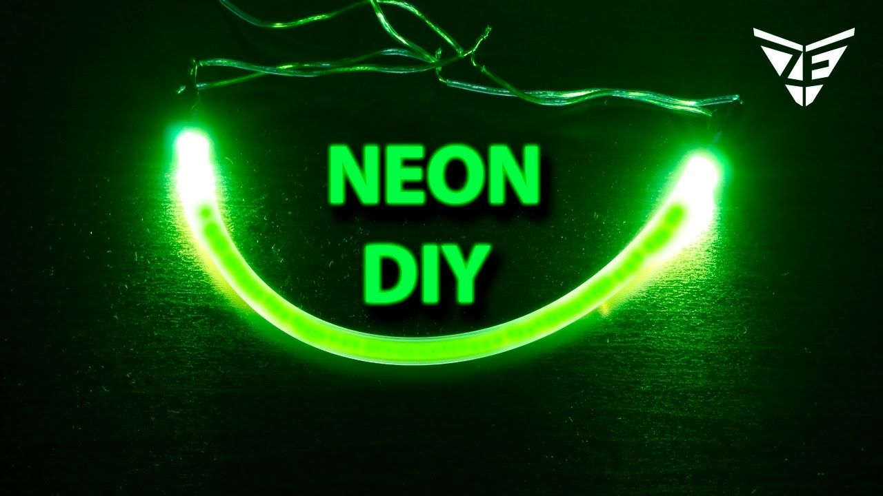 How to Make a Neon Light Strips YouTube Diy neon sign