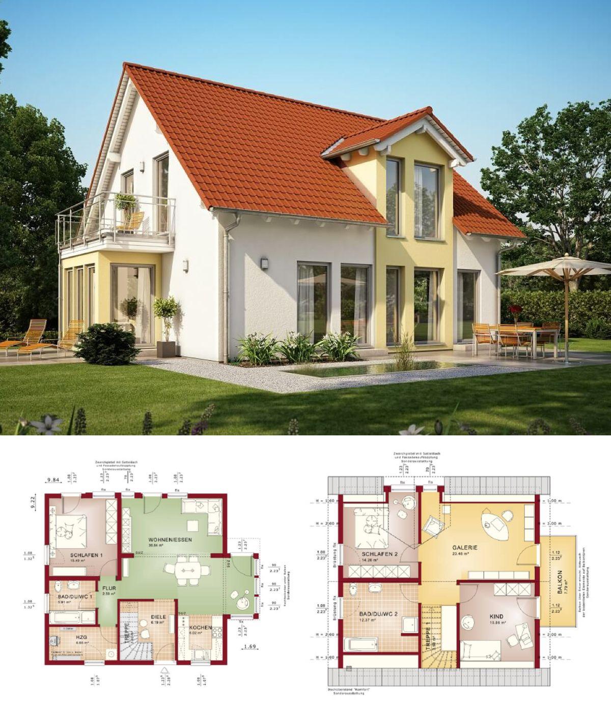 Babyschale Mit Gestell Haus Und Design: Haus Mit Erker Und Balkon