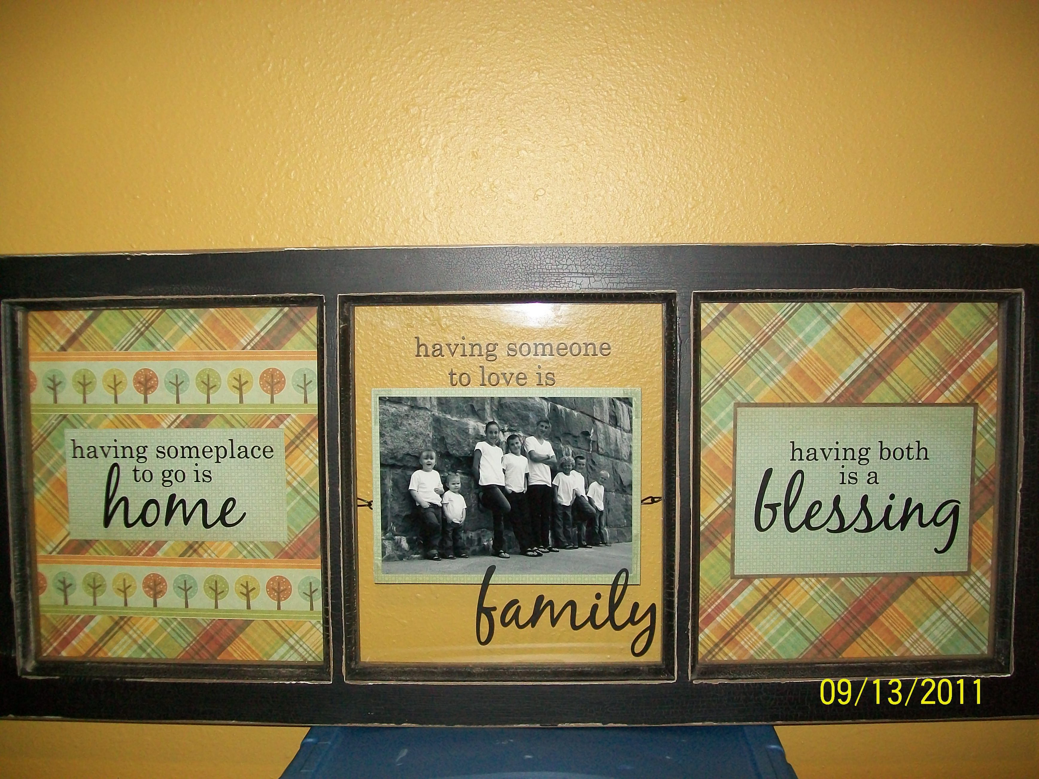 Window Picture Frame. Used window frame bought at Crafts Direct ...