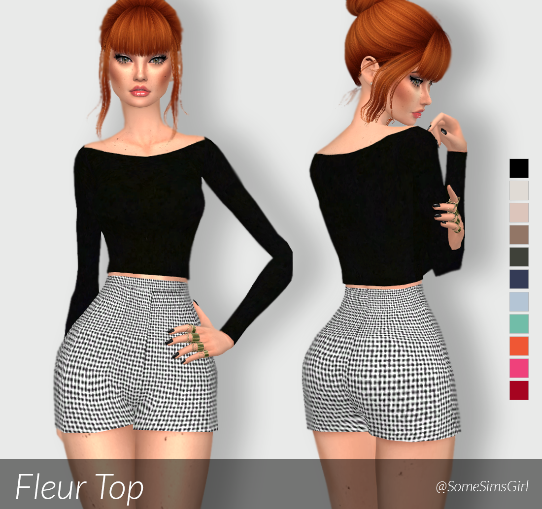 ♥ Fleur Top! ♥ • comes in 11 colors • standalone • custom thumbnail • read my…