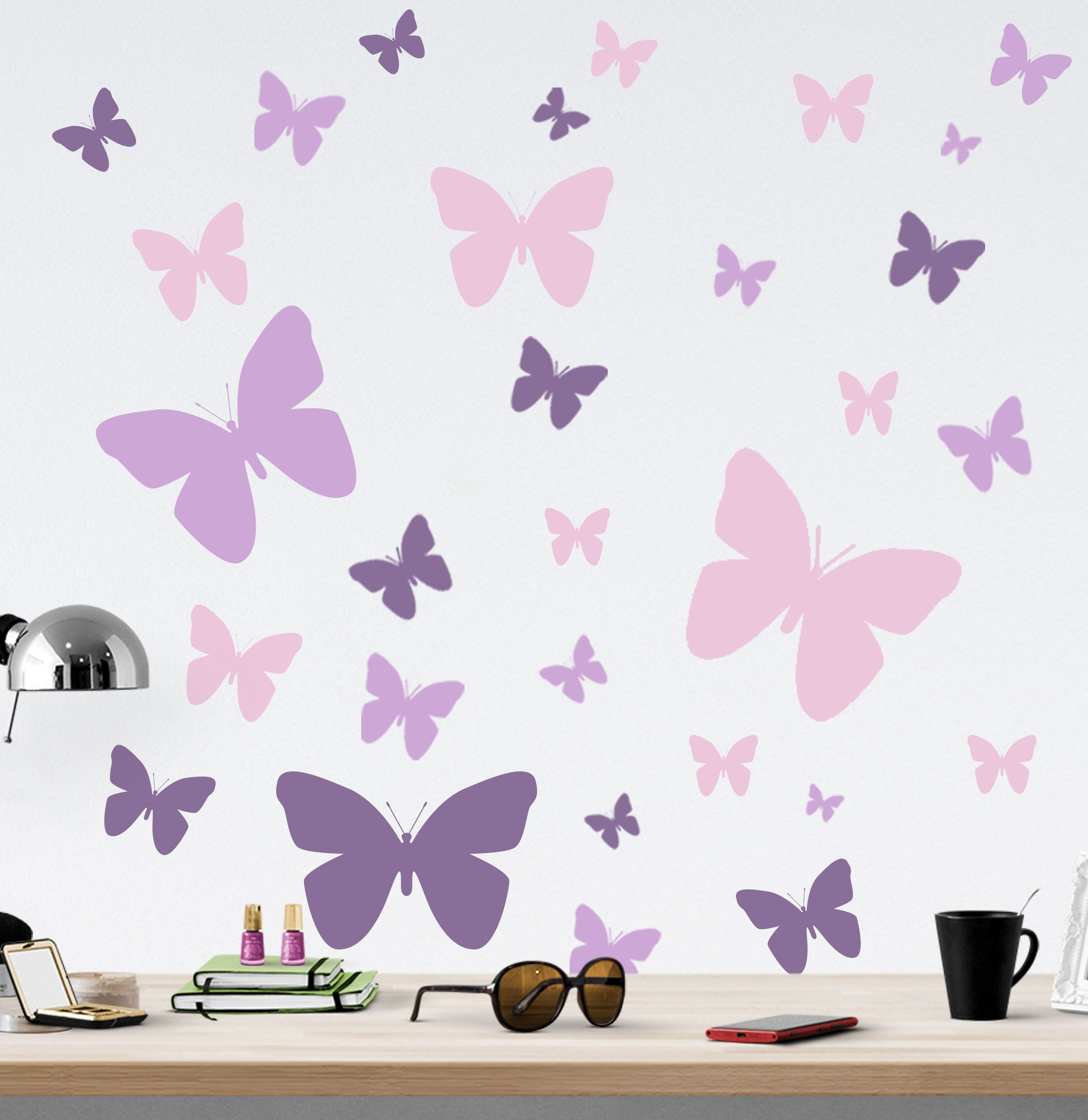 39 Butterfly Wall Decals Girls Room Decor Decorative Peel