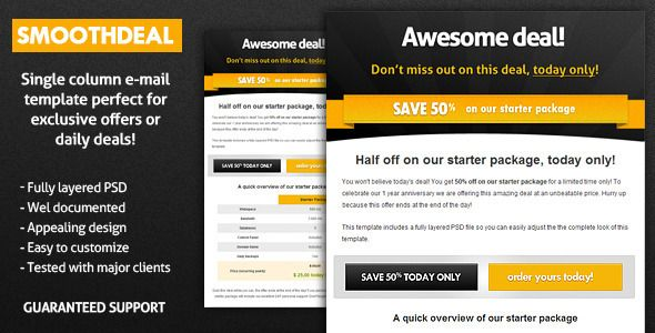 Smoothdeal Newsletter #Template #WebDesign #Web | My Favourite Web