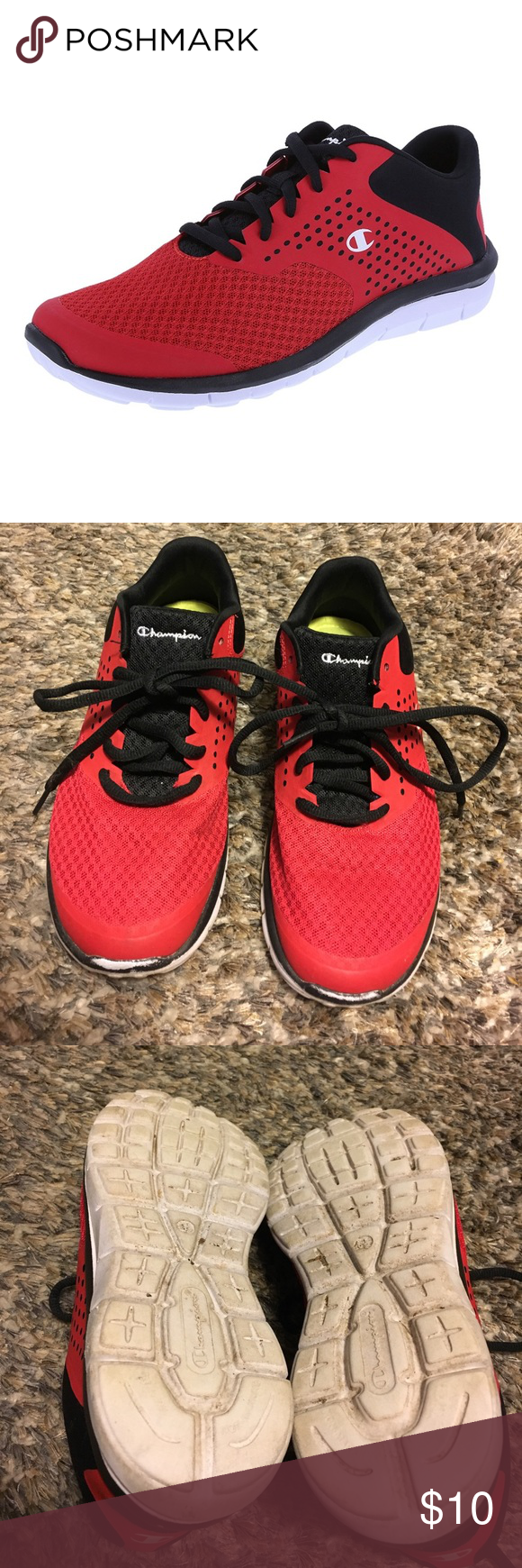 Champion Red Cross Trainer Tennis Shoes