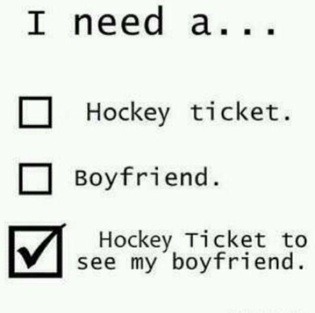 I need a hockey ticket to see my boyfriend :) Quick!!!