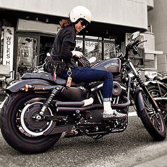 hareydavidson バイク女子 ガールズライダー ハーレー ハーレー女子 ツインカム